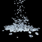 Diamonds on black — Stock Photo