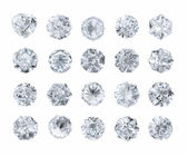 Set of diamonds — Stock Photo