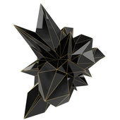 Czarny kształt — Zdjęcie stockowe