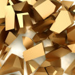 Stock Photo: Golden pieces