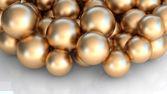 Sfere d'oro — Foto Stock