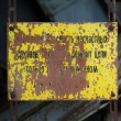 Old metal plate — Stock Photo