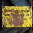 Stock Photo: Old metal plate