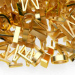 Golden letters — Stock Photo