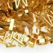 Foto Stock: Golden letters