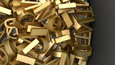 黄金の文字 — ストック写真