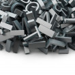 Stock Photo: Heap of letters