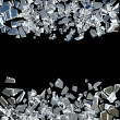 Broken glass background — Stock Photo