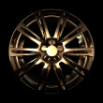 Golden car disc — Stock Photo #31994347