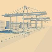 Paisagem industrial — Foto Stock