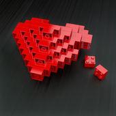 Plastic heart — Stock Photo