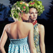 Two women with eco hair style — Lizenzfreies Foto