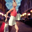 Smiling girl with shopping bags — Stockfoto #13878082