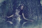 Vackra vatten nymf — Stockfoto