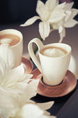 Cups of coffe in the morning — Stock Photo