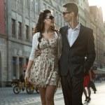 attraktivt par på datum — Stockfoto