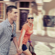 Walking in the city — Stockfoto