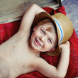 Royalty-Free Stock Photo: Happy little boy with hat
