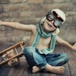 Small boy playing - Foto Stock