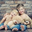 Stockfoto: Two little boys enjoying their childhood