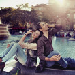Foto Stock: Relaxing couple