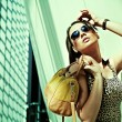 Attractive woman posing in modern building — Stock Photo