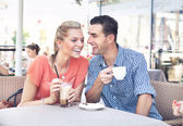 A coffee break in the summer — Stock Photo