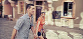 Walking in the city — Stock Photo