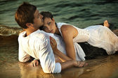 Intimacy on the beach — Stock Photo