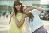 Cheerful young women — 图库照片