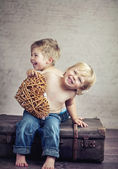 Happy childhood — Stock Photo