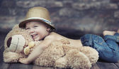 Fantastic picture of playing child — Stok fotoğraf
