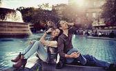 Casal de relaxamento — Foto Stock