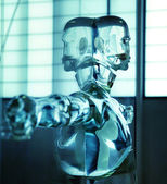 Intersting picture of a water android — Stock Photo