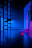 Art gallery in the night — Stock Photo
