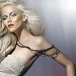Picture of whitehair young woman — Stock Photo