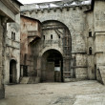 Medieval castle in european city — Stock Photo #15688223
