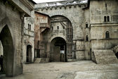 Medieval castle in european city — Stock Photo