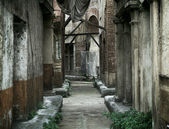 Old abandoned houses in ancient Rome — Stock Photo