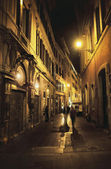 Ancient street in european old city — Stock Photo