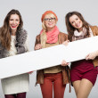 Marvelous three female friends — Stock Photo