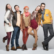 Stock Photo: Fashion style picture of friends