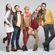 Fashion style picture of friends — Stock Photo