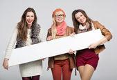 Marvelous three female friends — Stock Photo