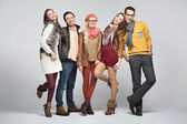 Fashion style picture of friends — Foto de Stock