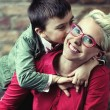 Joyful mother with her son - Stock Photo