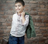 Fine picture of businessman child — Stock Photo