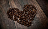 Fragrant coffee heart — Stock Photo