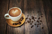 Great shoot of coffee cup — Stock Photo