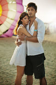 Summer style of loving couple — Stockfoto